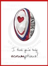 Rugby Valentines Card